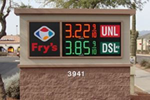 Fuel Center Sign Example